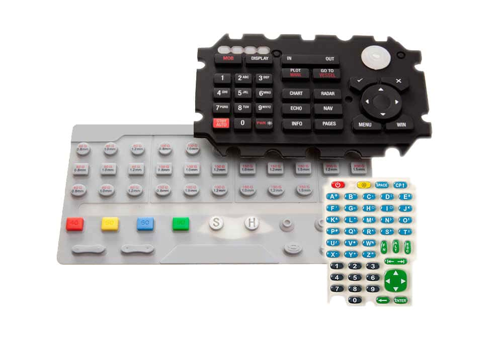 Examples of Silicone Rubber Keypads created by Silicone Dynamics.