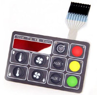 An example of a custom membrane switch from Silicone Dynamics.