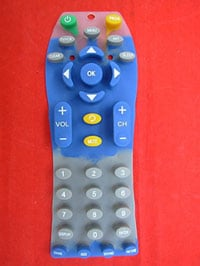 An example of a custom silicone rubber keypad from Silicone Dynamics.